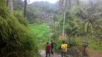 Nampak deretan pemukiman Kampung Naga yang berada di pelosok desa Neglasari, Tasikmalaya (Liputan6.com/Jayadi Supriadin)