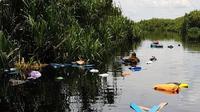 Kecelakaan speedboat yang ditumpangi Paspampres terjadi di Sungai Sebangau, tepatnya di dekat dermaga Kereng Bengkirai, Kota Palangkaraya, Senin (9/3/2020). (Liputan6.com/ Ist)