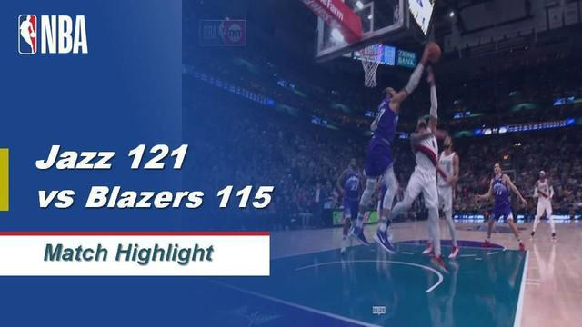 Berita Video Highlights NBA 2019-2020, Utah Jazz Vs Portland Trail Blazers 121-115