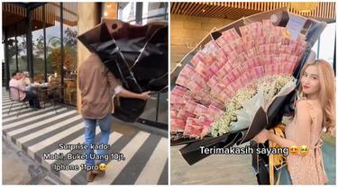 2 Tahun Pacaran, Pria Ini Beri Kado Buket Uang Rp 10 Juta dan Mobil Mewah ke Pacarnya