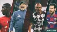 Trivia - Pemain Paul Pogba, Maradona, Iniesta, Lionel Messi (Bola.com/Adreanus Titus)