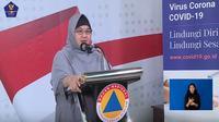 Dokter spesialis paru Erlina Burhan dalam keterangan persnya soal penggunaan masker di tengah COVID-19 (Tangkapan Layar Youtube BNPB Indonesia)