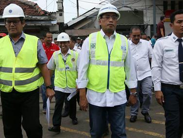 Menhub Budi Tinjau Progres Revitalisasi Stasiun Manggarai