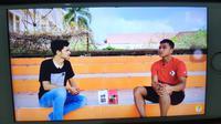 Mantan pemain Persija Jakarta Defri Rizki dalam channel youtube Ichsan Maulana. (Bola.com/Abdi Satria)