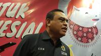 Chief de Mission (CdM) kontingen Indonesia di Asian Games 2018, Wakapolri Komjen Pol Syafruddin, optimistis tim Indonesia bisa memenuhi target yang dibebani. (Bola.com/Zulfirdaus Harahap)