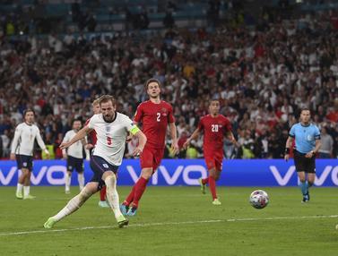 Foto Piala Eropa: Singa Berhasil Menjinakan Dinamit, Inggris Hadapi Italia di Final Euro 2020