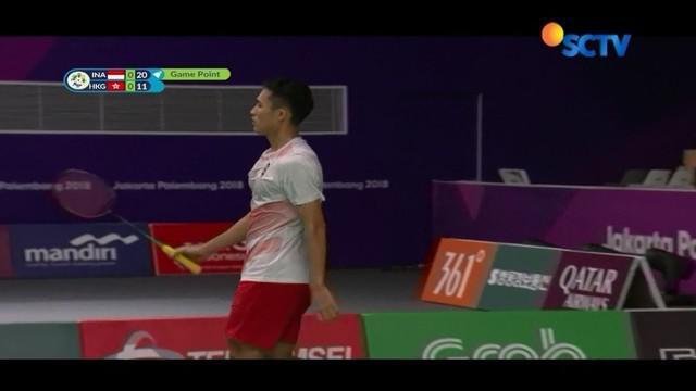 Tim bulutangkis Indonesia berhasil melanjutkan ke babak semifinal di dua nomor yakni ganda putra dan tunggal putra, dengan masing-masing dua wakil.