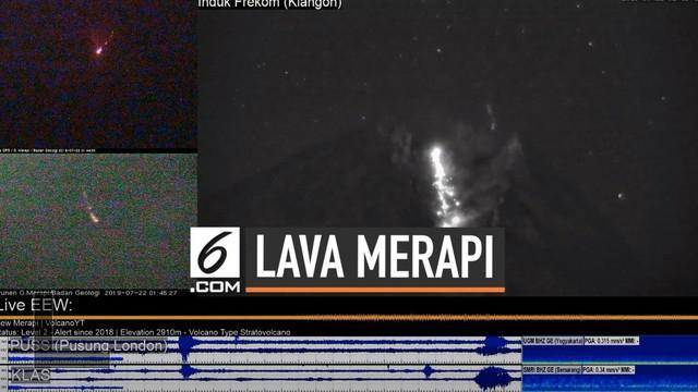 Gunung Merapi terus menunjukkan aktivitas vulkaniknya. Tadi malam (21/7) Merapi meluncurkan lava pijar selama 12 jam ke arah ujung kalo Gendol.