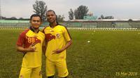 Striker anyar Sriwijaya FC, Hilton Moreira mengaku timnya masih butuh waktu untuk menjadi tim yang tangguh. (Bola.com/Riskha Prasetya)
