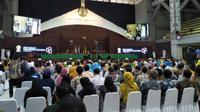 Presiden Joko Widodo (Jokowi) menghadiri Dies Natalis Ke-68 Universitas Indonesia (UI) di Balairung, UI Depok, Jumat (2/2/2018).