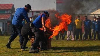 Antisipasi Kebakaran, Lapas Cikarang Gelar Simulasi