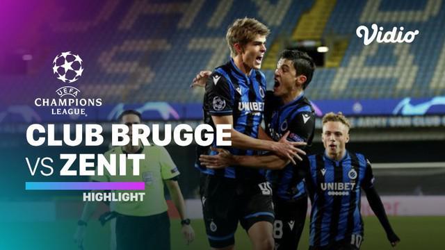 Berita video highlights matchday 5 Grup F Liga Champions 2020/2021 antara Club Brugge melawan Zenit St Petersburg yang berakhir dengan skor 3-0, Kamis (3/12/2020) dinihari WIB.