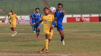 Blitar Bandung United meraih hasil imbang kontra Sriwijaya FC (2-2) di Stadion Siliwangi, Jalan Lombok, Bandung, Senin (5/8/2019), dalam laga lanjutan Liga 2 2019. (Bola.com/Erwin Snaz)