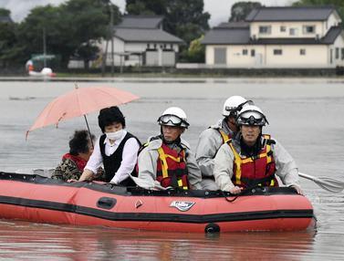 Hujan Lebat dan Longsor di Jepang