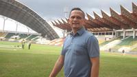 Presiden Persiraja Banda Aceh, Nazaruddin Dek Gam memutuskan tim tetap bertahan di Yogyakarta selama dua pekan sambil menunggu kepastian Liga 1 dari PSSI dan PT LIB. (Bola.com/Gatot Susetyo)