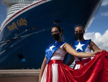 FOTO: Pertama Sejak Pandemi, Kapal Pesiar Kunjungi Amerika Serikat