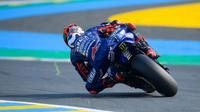 Maverick Vinales saat melakoni sesi latihan bebas MotoGP Prancis di Sirkuit Le Mans, Jumat (18/5/2018). (MotoGP.com)