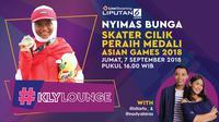 Live Streaming #KLY Lounge Bunga Nyimas (Liputan6.com/Triyasni)