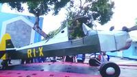 Pesawat kustom pertama di Indonesia ikut dipamerkan dalam Kustomfest 2018 (Liputan6.com/ Switzy Sabandar)