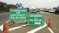 Tol Ciawi-Bogor-Sukabumi (Bocimi) Seksi I, yakni dari Ciawi sampai Cigombong mulai dibuka secara fungsional mulai Jumat, 8 Juni 2018. (Maulandy/Liputan6.com)