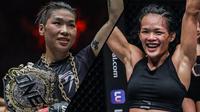Atlet Mix Martial Arts Tiffany Teo bakal menantang juara bertahan Xiongg Jing Nan untuk memperebutkan gelar Juara Dunia ONE Womens's Strawweight. (Foto: One Championship)