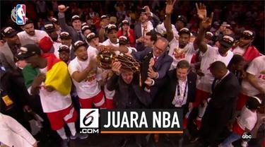 Toronto Raptors mengukir sejarah sebagai tim asal Kanada pertama yang menjadi juara NBA. Raptors mengalahkan Golden State Warriors 4-2 di Final NBA 2019.