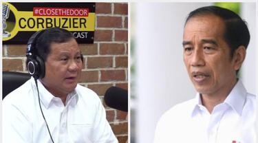 Prabowo Subianto di acara Deddy Corbuzier podcast dan Presiden Jokowi.