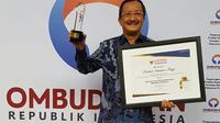 Ombudsman Republik Indonesia (ORI) memberikan penghargaan kepada Pelayanan Terpadu Satu Atap (PTSA)  Kementerian Ketenagakerjaan (Kemnaker).