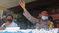 Kapolda Sulteng, Irjen Pol. Syafril Nursal saat memberi keterangan pers di Mapolda Sulteng, Selasa (30/6/2020).