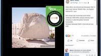 [Cek Fakta] Sebuah Batu Besar Bisa Melayang di Arab Saudi, Benarkah?