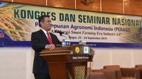 Dalam Kongres dan Seminar Nasional Perhimpunan Agronomi Indonesia (PERAGI), Menteri Pertanian, Andi Amran Sulaiman membeberkan sederet prestasi sektor pertanian dalam 5 tahun terakhir.