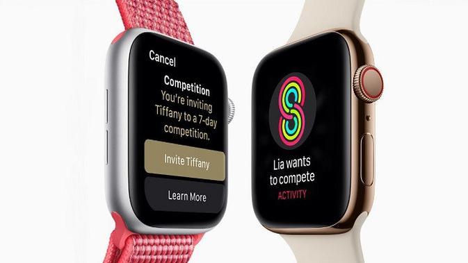 Tampilan Apple Watch Series 4 (sumber: Apple)