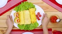 Telur dadar gulung rica-rica, (Foto: Kokiku Tv)