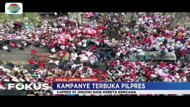 Jokowi yakin akan menang lebih dari 70 persen saat kampanye terbuka di Solo, Jawa Tengah.