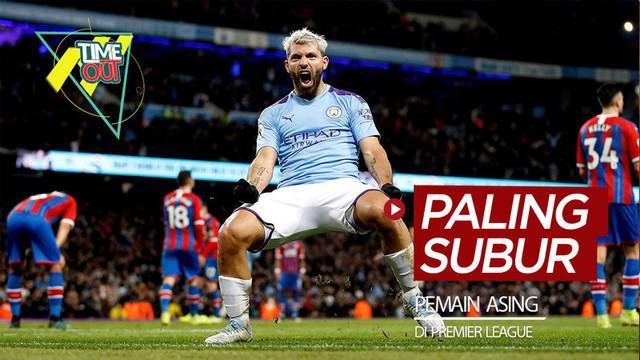 Berita video Time Out kali ini membahas 4 pemain asing tersubur di Premier League, di mana salah satunya adalah striker Manchester City, Sergio Aguero.