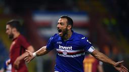 1. Fabio Quagliarella (Sampdoria) - 22 gol dan 8 assist (AFP/Marco Bertorello)