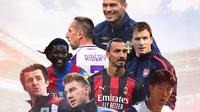 Ilustrasi - Zlatan Ibrahimovic, Son Heung-min, Joey Barton, Nicklas Bendtner, Adebayor, Jens Lehmann, Ribery, Ljungberg (Bola.com/Adreanus Titus)