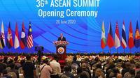 PM Vietnam Nguyen Xuan Phuc dalam KTT ASEAN 36 pada Kamis 26 Juni 2020. (Source: ASEAN 2020 Vietnam)