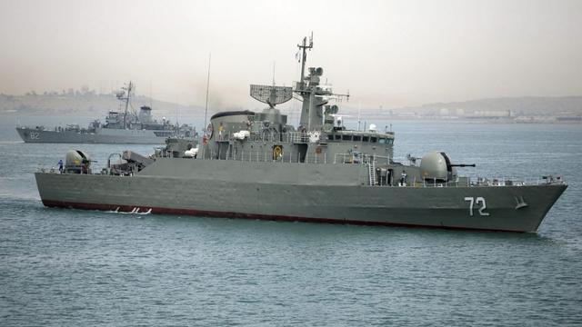 Ilustrasi kapal perang Iran