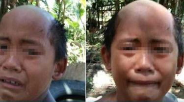 Agar Anaknya Tak Keluyuran Saat Pandemi, Pria Ini Cukur Rambut Anaknya Asal-asalan