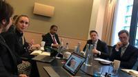 Arief Yahya saat business meeting di London.