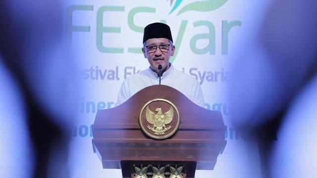 Deputi Gubernur Bank Indonesia (BI), Dody Budi Waluyo, dalam acara pembukaan Festival Ekonomi Syariah (FESyar) Indonesia di Surabaya. (Foto: BI)