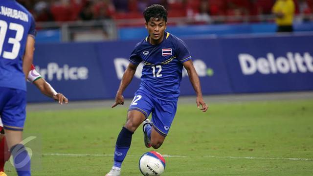 Pemain Timnas U-23 Thailand Nurul Sriyankem