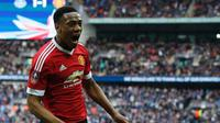 Striker Manchester United asal Prancis, Anthony Martial. (AFP/Adrian Dennis)