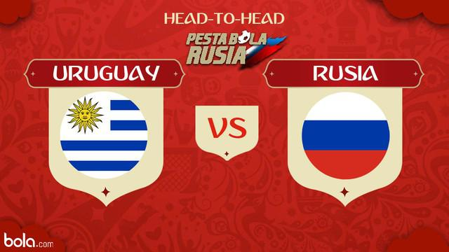 Berita video head-to-head Piala Dunia Rusia 2018: Uruguay vs Rusia.