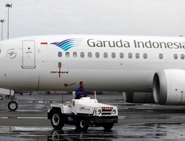 Penampakan Boeing 737 Max 8 Milik Garuda yang Dilarang Terbang
