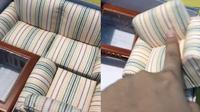Tergoda Flash Sale, Wanita Ini Malah Beli Sofa Mini Dengan Harga Rp 400 Ribu. (Sumber: TikTok/@indomiegoyengtelorr)