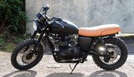 Replika sepeda motor bergaya scrambler ini dibangun secara profesional oleh rumah modifikasi FCL Motorcycles