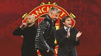 Manchester United - Erik ten Hag, Ole Gunnar Solskjaer, Antonio Conte (Bola.com/Adreanus Titus)