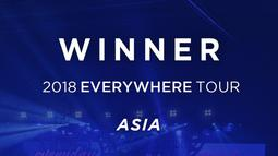 Dalam poster yang diunggah YG Entertainment, Winner akan berkunjung ke kota besar seperti Kuala Lumpur, Singapura, Taipei, Hong Kong, Bangkok, dan Jakarta. (Foto: twitter.com/ygent_official)